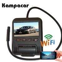 Kampacar Mini Car Wifi DVR Auto Video Recorder Mirror Camera Sony IMX323 Novatek 96658 Car Dvr Dash Cam 2 Dvrs With Two Cameras