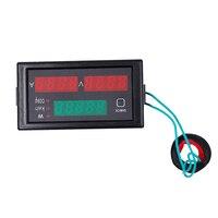 DL69-2047 AC 80-300 V Multi-função de voltímetro digital ac medidor de tensão digital amperímetro medidor de fator de potência 40% de DESCONTO