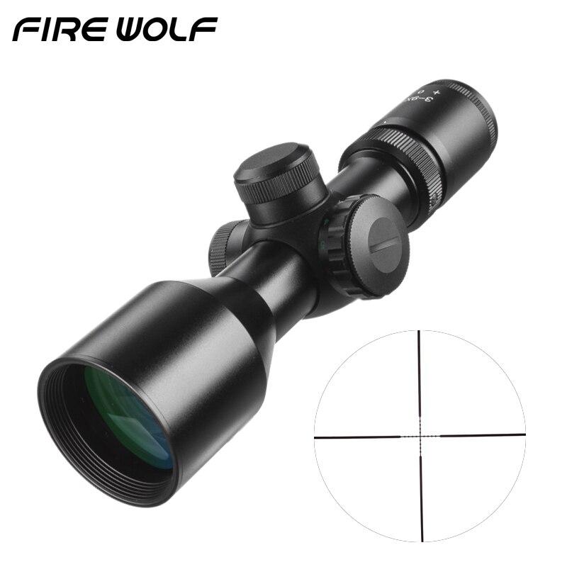 Тактический 3-9x40 компактный прицел Mildot/дальномер Сетка Охота Riflescopes кросс-волосы сетка подходит 11 мм/20 мм рейку