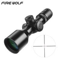 Tactical 3 9x40 Compact Scope Mildot/Rangefinder Reticle Hunting Riflescopes Cross Hair Reticle fits 11mm/20mm Rail Mount