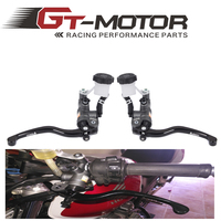 GT Motor Motorcycle 19X18 Brake Adelin Master Cylinder Hydraulic With 16x18 Clutch Master Cylinder FOR KAWASAKI