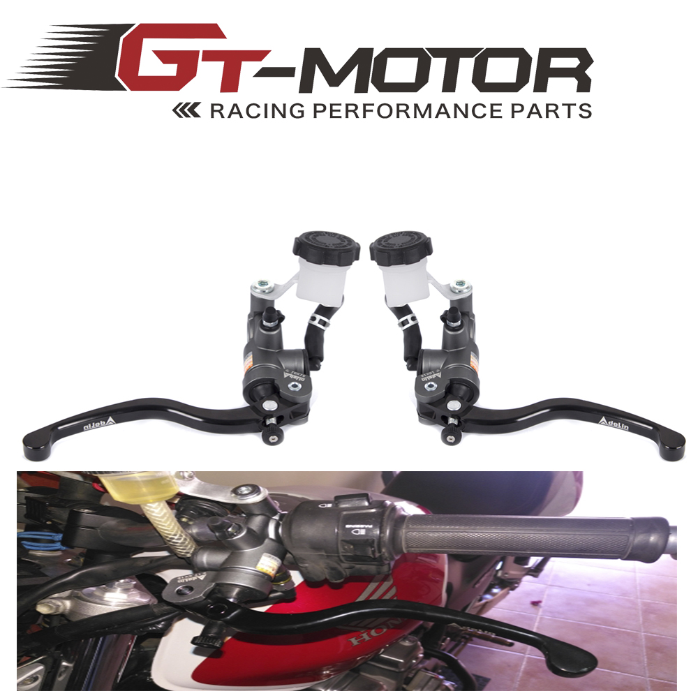 купить GT Motor - Motorcycle 19X18 Brake Adelin Master Cylinder Hydraulic with 16x18 Clutch master cylinder FOR KAWASAKI по цене 3899.66 рублей