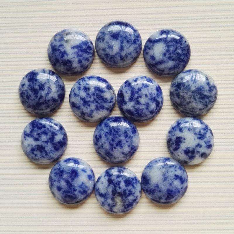 Wholesale Fashion fast ship natural Sodalite stone beads 20mm round cab cabochon stone beads 20pcs/lot free shipping