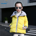 5 Colors Children Coat Winter 2017 New Girl Clothes Fashion Collar Solid Jacket Kids Cotton Coats Girls Padded Clothing T2827