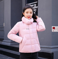 New Winter Women Jacket Cotton Padded Parka Coats Sweet Style Ultra Light Winter Jacket Women Outerwear M XXL