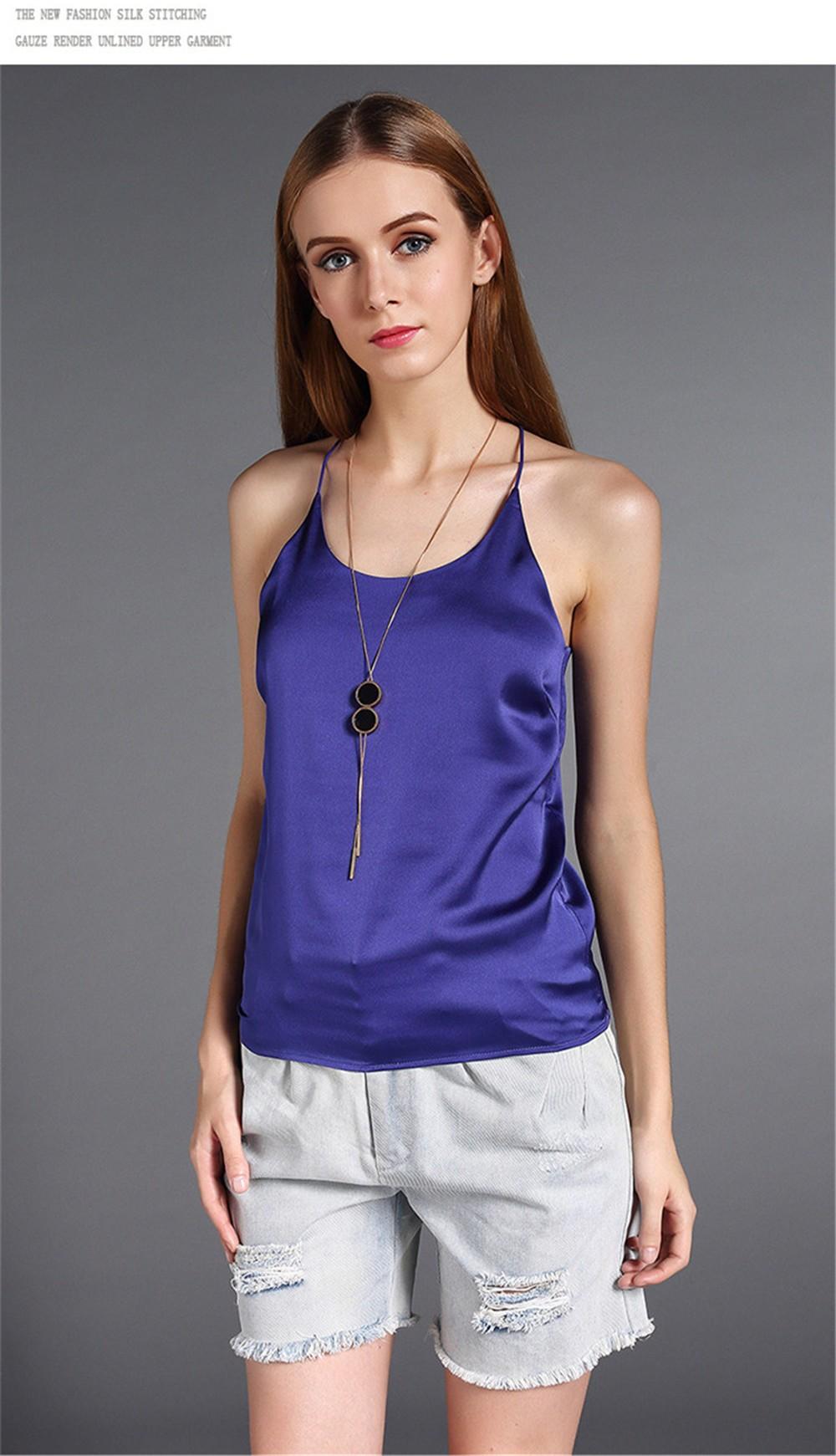 Plus Size S-4XL Multiple Women Tank Tops Brand Silk Blending Sleeveless Tshirt Women Female Shirt Smooth Blouse Blusas Femininas (17)