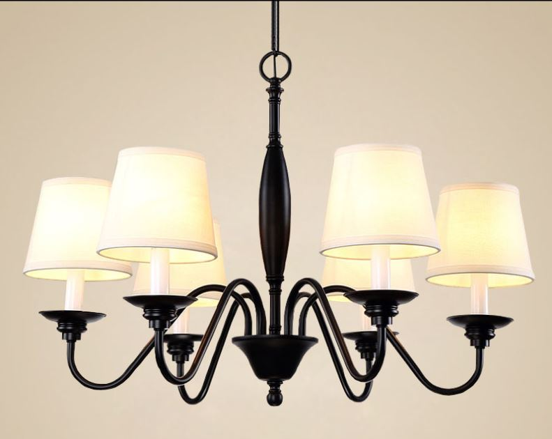 American country black iron chandeliers Nordic garden European style living room study bedroom restaurant room cover lamps lamps new crystal pendant lights nordic european style living room restaurant bedroom modern minimalist american country iron