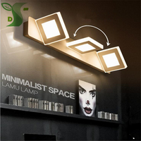 2017 New 1pcs 6W+1pcs 9W 32cm/48cm long highlight led mirror light white/warm white acrylic bathroom makeup lamp factory direct