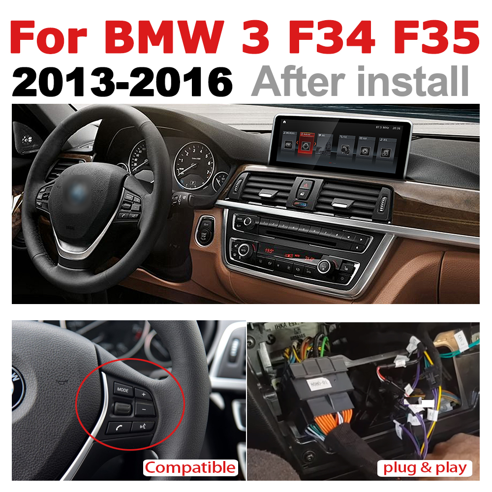 Car Audio Android 7.0 up GPS Navigation ForBMW 3 Series F34 F35 2013-2016  WiFi 3G 4G Multimedia player Bluetooth 1080P2