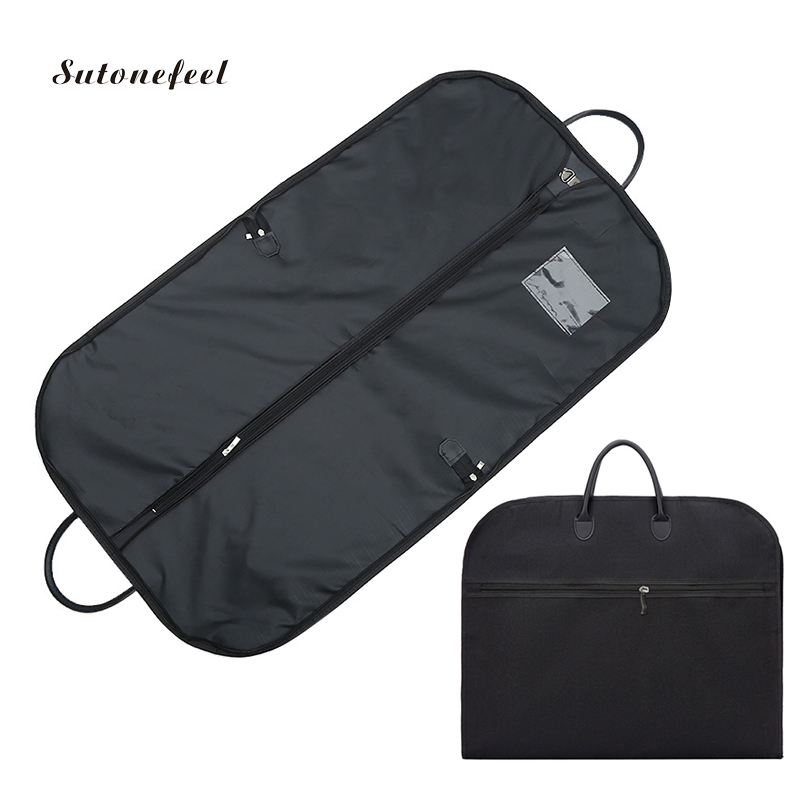 Men Suit Cover Case For Traveling Storage Bags 100cm Oxford Suit Dust Cover For Clothing Organizer Household Supplies
