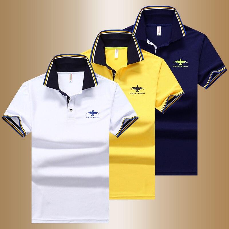YIHUAHOO   Polo   Shirt Men High Quality Men Cotton Short Sleeved Summer Shirt Brand Jerseys   Polos   Para Hombre Size M-4XL JCP-632