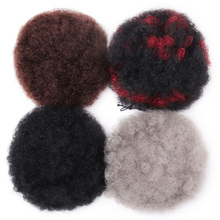 MISS WIG Short Curly Ponytail Drawstring High Puff Clip In Hair Extenssions Synthetic African American Afro Hairstyle