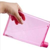 Forma Notebook portátil ao ar livre chaleira/garrafa de água de esportes 320 ml 2 pcs cada pacote transparente