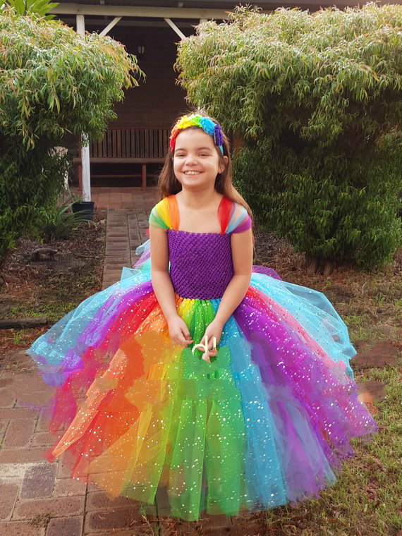 fb6c50384f POSH DREAM Sparkly Unicorn Kids Girls Inspired Dress Easter Tutu Dresses  Pony Costume Easter Birthday Party Clothes for 12Year