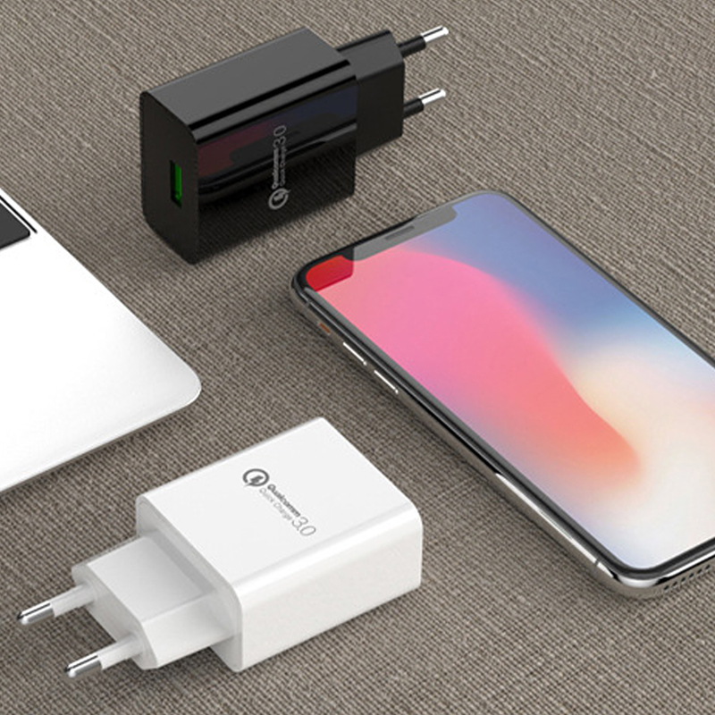 YILIZOMANA Fast charger Quick charge USB QC 3 0 EU US Plug For iPhone 6 7 8 X XS Xiaomi Mi 8 HuaWei Mate 20 Pro Phone charging in Mobile Phone Chargers from Cellphones Telecommunications