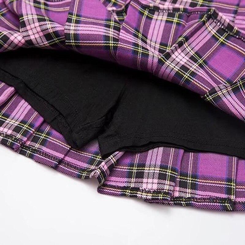 e13e772b1 GOPLUS Women Fashion Summer High Waist Pleated Skirt Korean Harajuku Plaid  Skirts Kawaii Female Preppy Chic Mini Skirts C5741 | CB Gift Bag