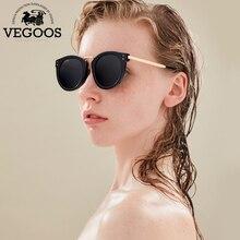 Vegoos Новый поляризованные Для женщин круглый Солнцезащитные очки для женщин Брендовая Дизайнерская обувь в стиле ретро кошачий глаз Polaroid Защита от солнца Очки #6113