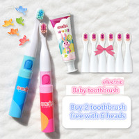 Kids Electric Toothbrush Children 2 7 Years Old Baby Fine Oral Toothbrush Holder Waterproof Electronic Toothbrush Free with Haed