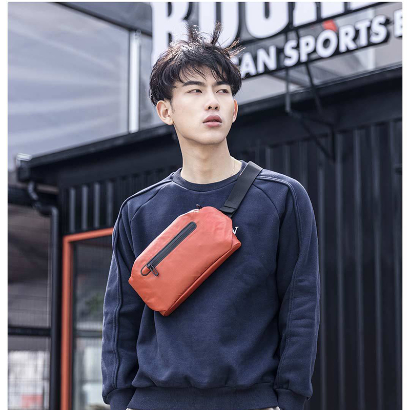 Image 3 - Xiaomi 90 Waterproof Shoulder Bag Cool Casual Chest Bag Waist Bag Money Phone Belt bag For Sport Riding With Safety Warning-in Bags from Consumer Electronics