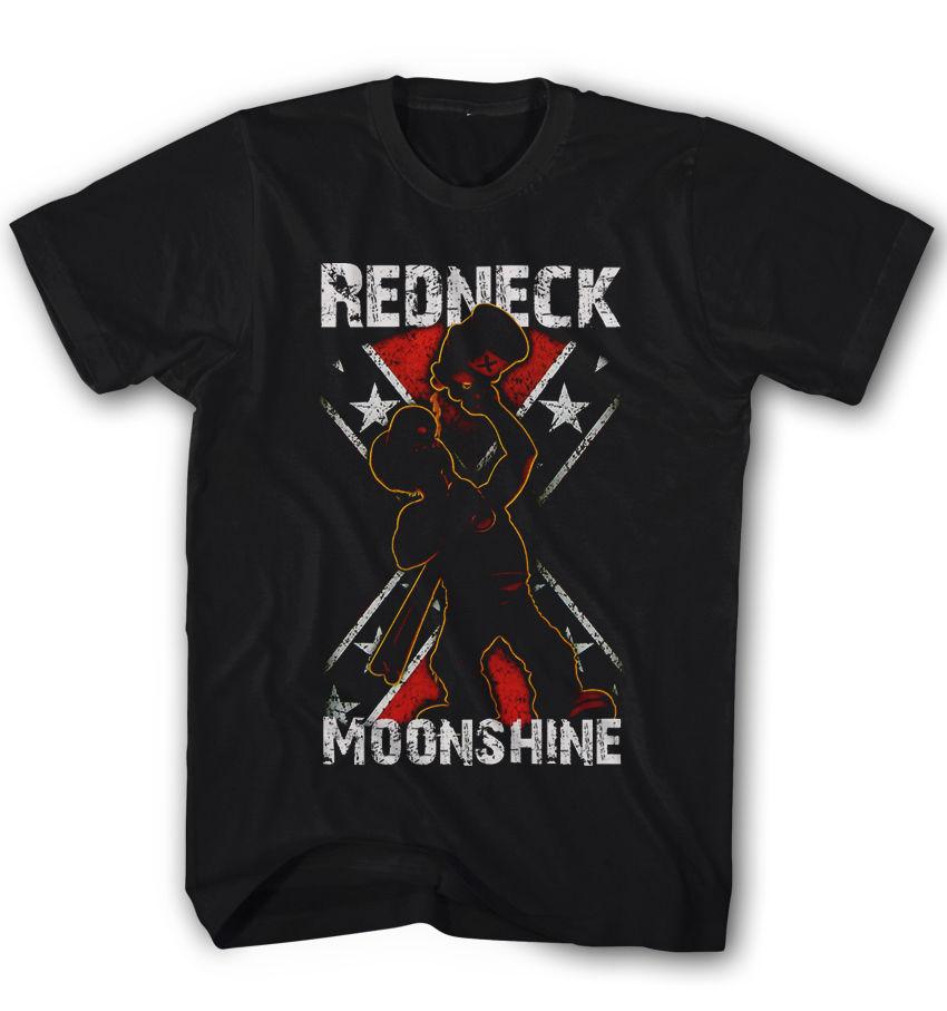 Herren T-shirt Plouc Moonshine USA Casual Partie Clubwear Neu S-5XL RN28101 Cartoon Imprimer Manches Courtes T-shirt Livraison Gratuite
