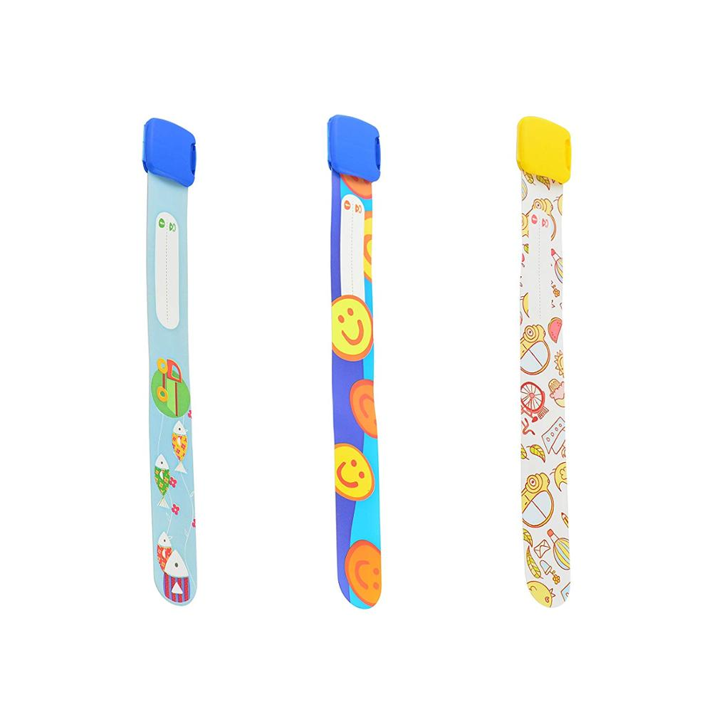 3 pcs Child ID Band Reusable Safety Wristbands for Kids