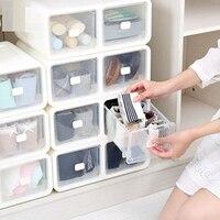 1 pcs Drawer Type Household Storage Underwear Storage Box Plastic With Grids Panty Socks Finishing Boxes Home Bra Organizer Box