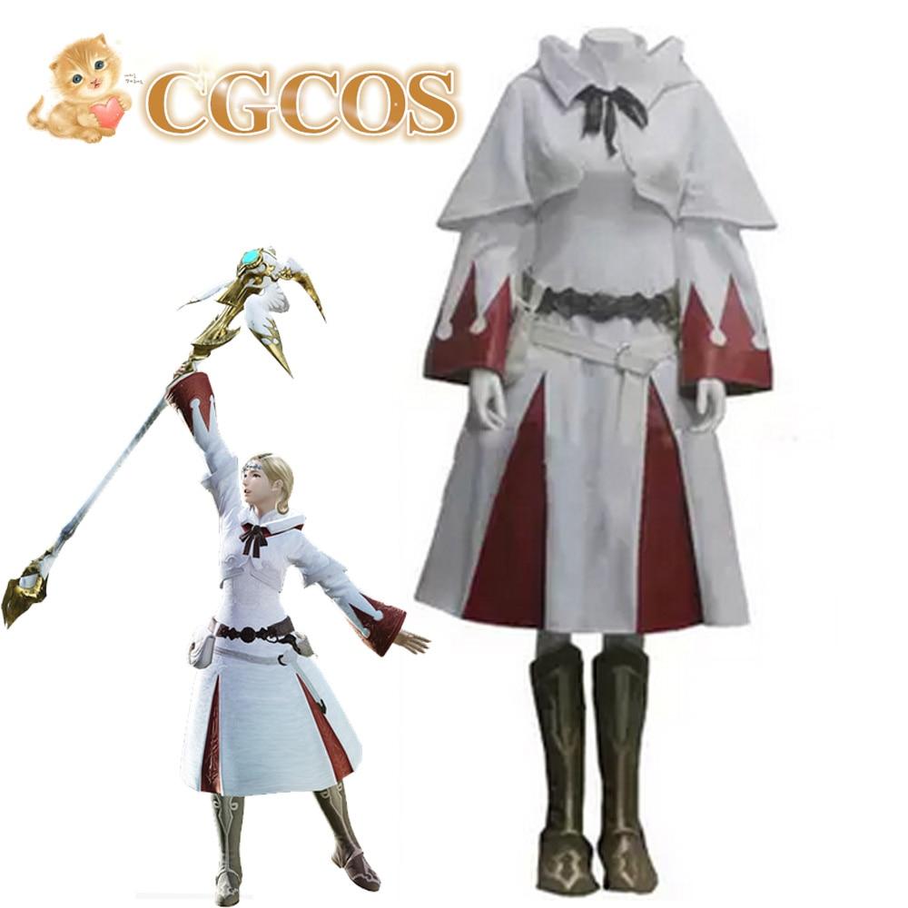 CGCOS Express! Final Fantasy XIV 14 White Mage Game Cos Uniform Game Cos Dress Anime Cosplay Costume Uniform Custom made