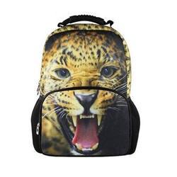 Большие дети животных Leopard рюкзак для подростка Обувь для мальчиков Обувь для девочек cool Dog Лев Школьный для детей модные Для мужчин