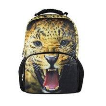 Grandes Niños Leopard Animal mochila Adolescente Niños Niñas Fresco Perro León Backbag Viajes Mochila para Niños de La Manera de Los Hombres