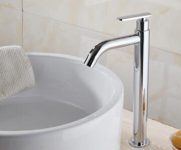 Tuqiu смеситель для раковины Одноместный холодный кран для ванной комнаты смеситель для раковины ванной комнаты высокий хромированный латунный кран для холодной воды - Цвет: style 3