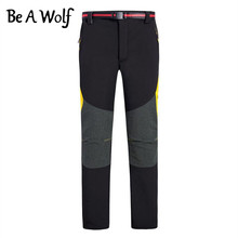 Be A Wolf Hiking Pants Women Men Outdoor Sport Winter Fishing Camping Skiing Hunting Clothes Trekking Softshell Tactical Pants