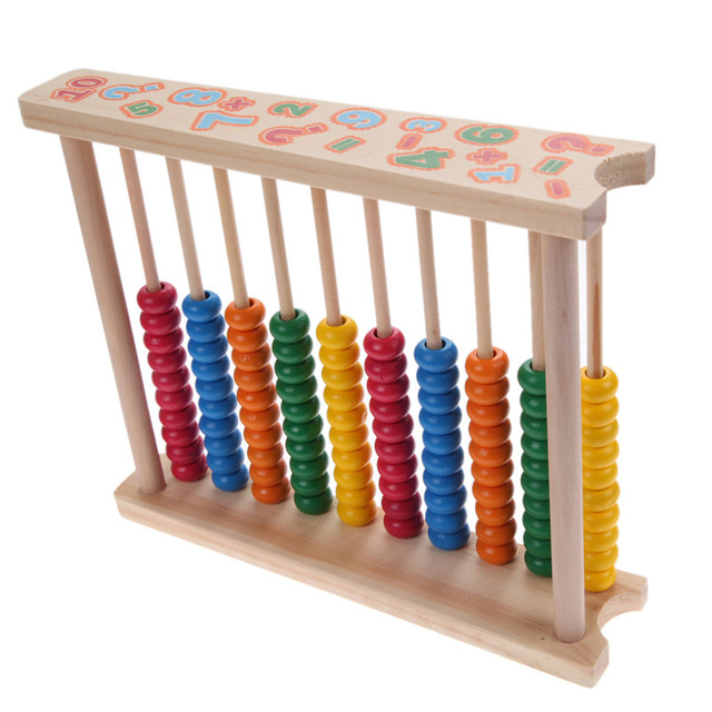 Colorful Wood Abacus for Foundational Learning