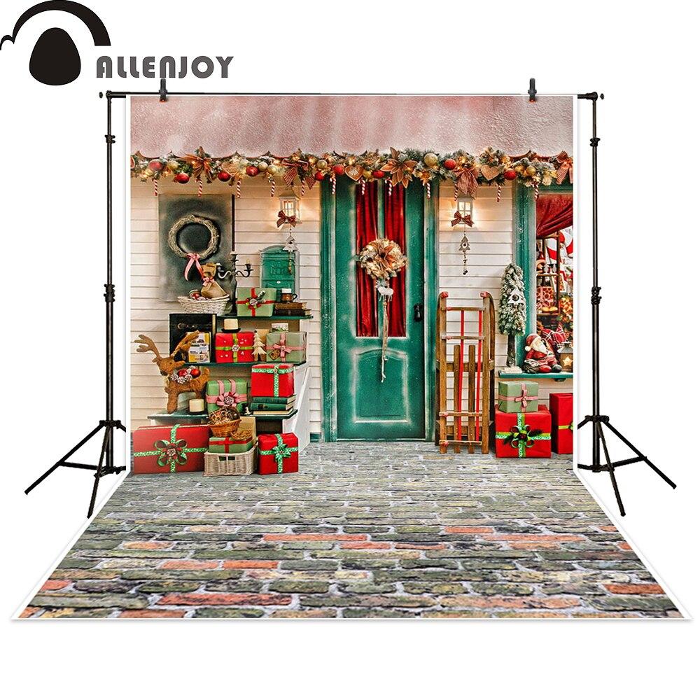 Allenjoy Фон фотографии Рождественский подарок дом праздновать фон photocall Фотографическая фотостудия photobooth