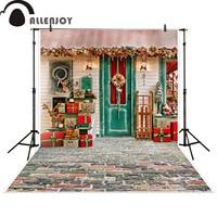 Allenjoy Photography Backdrop Christmas Gift House Celebrate Background Photocall Photographic Photo Studio Photobooth