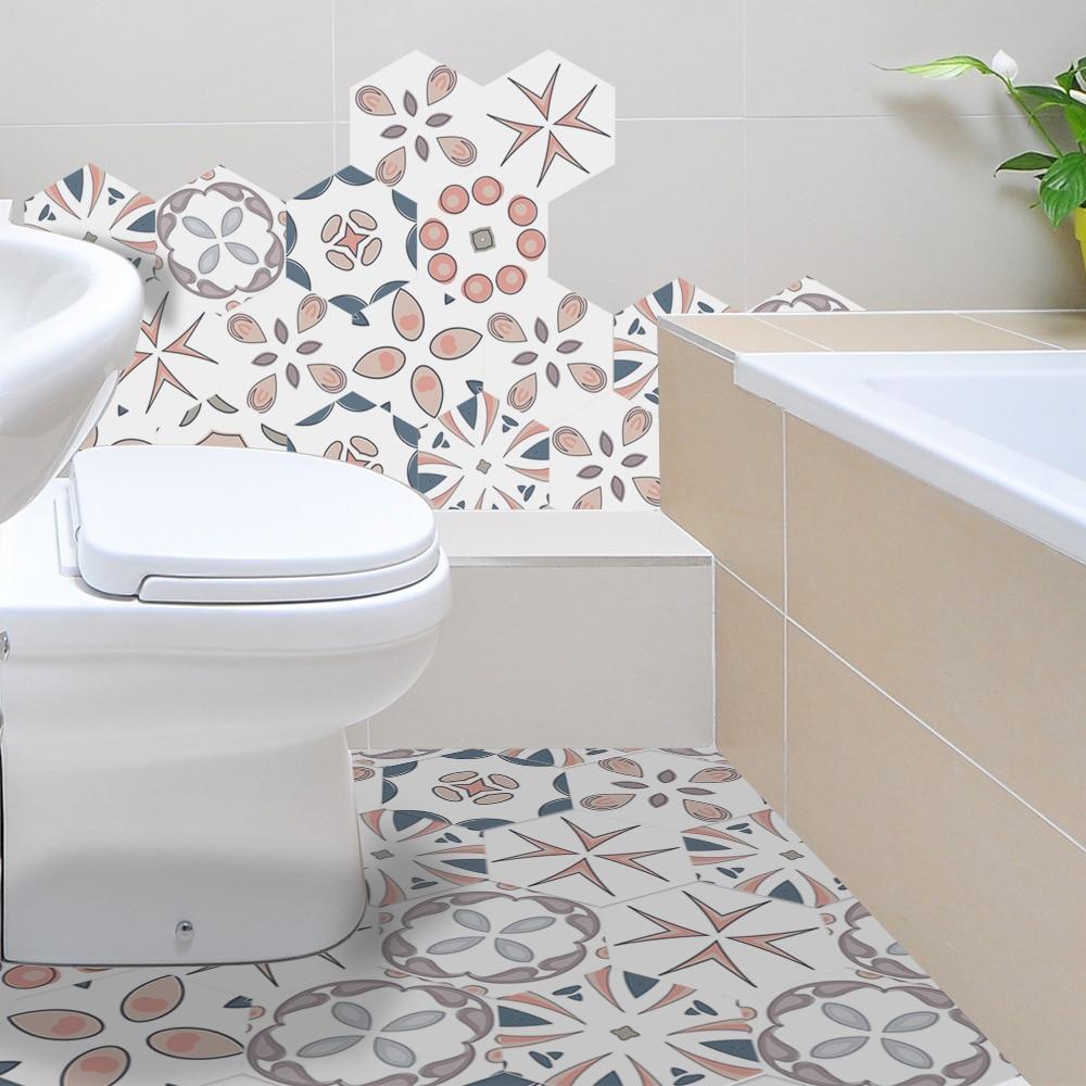 Funlife Bathroom Decorative Floor Tile Sticker,Self ...