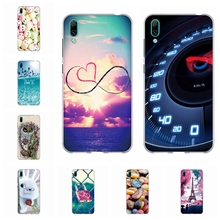 For Huawei Enjoy 9 Protective Case Soft TPU Silicone Back Cover Roses Patterned Enjoy9 Funda Shell