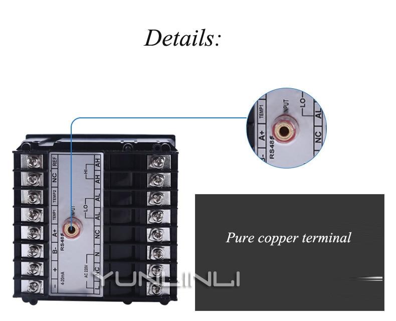 Contrôleur de PH moniteur en ligne industriel numérique 0.02pH 1mV alarme de contrôle de limite inférieure supérieure contrôleur de PH SIN-PH160 - 3
