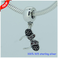 Fits Pandora Bracelets Minnie Headband Silver Charms With CZ Original 100 925 Sterling Silver Beads DIY