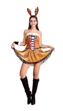 Europa navidad ciervos animal cosplay ds de halloween brown dress disfraces para mujeres disfraces adultos disfraces cosplay traje atractivo