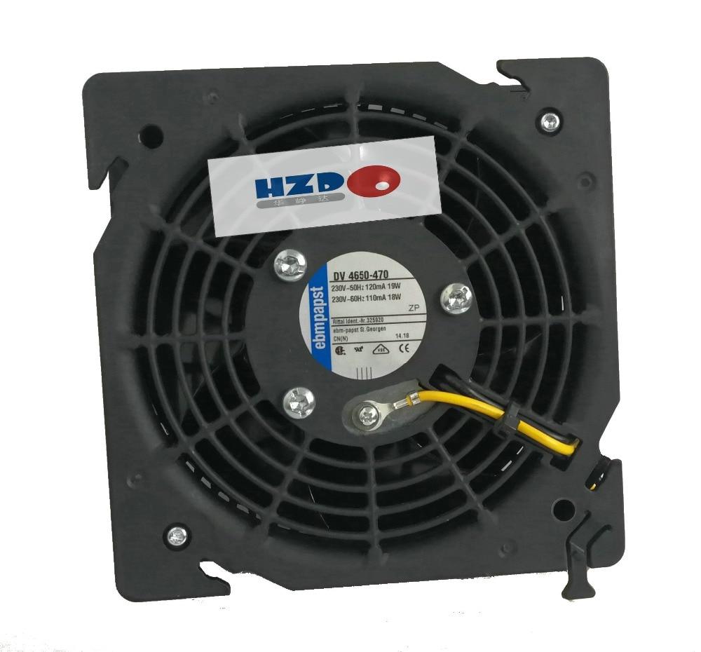 New Original ebmpapst DV 4650-470 230V-50HZ 110MA 18W 120mA 19W 122x122x45MM Cooling fan DV4650-470 original ebmpapst 1120ntd tc 220 230v 16w 19w cooling fan