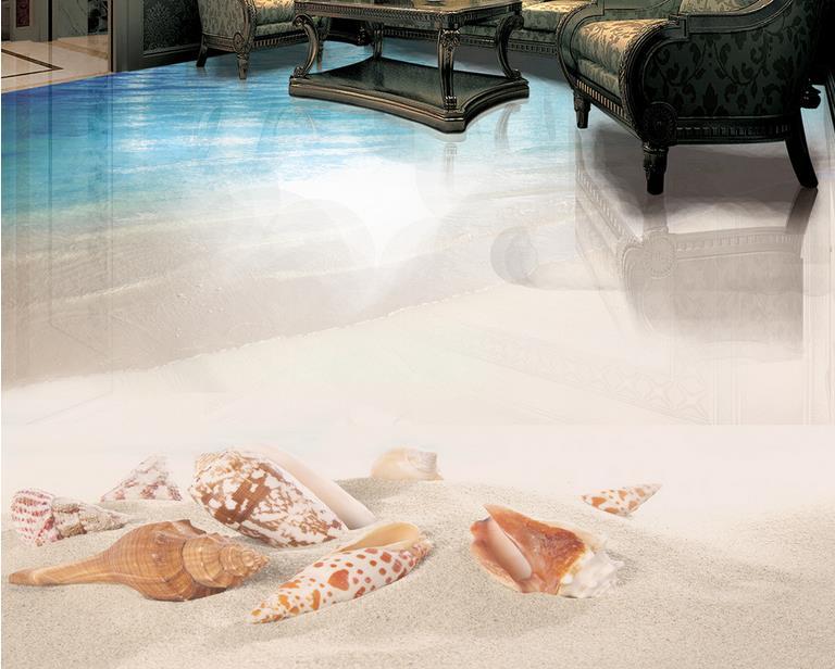 D piano pittura spiaggia mare conchiglie e stelle marine