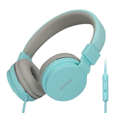 Moda Bonito Com Fio fones de ouvido com Microfone Portátil Dobrável On-Ear Fone de Ouvido com Microfone Controle de Volume para Telefones xiaomi PC MP3