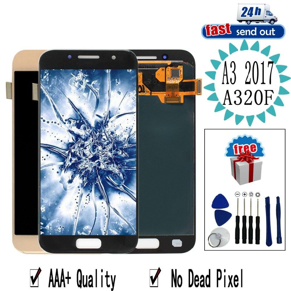 4.7 ''AMOLED A320F LCD pour Samsung Galaxy A3 2017 A320 LCD écran tactile testé numériseur assemblée