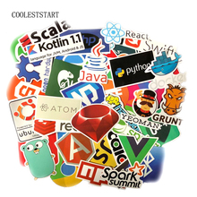 50pcs Java Internet JS Php Docker Bitcoin Html Cloud Programming Language APP Logo Funny Stickers for