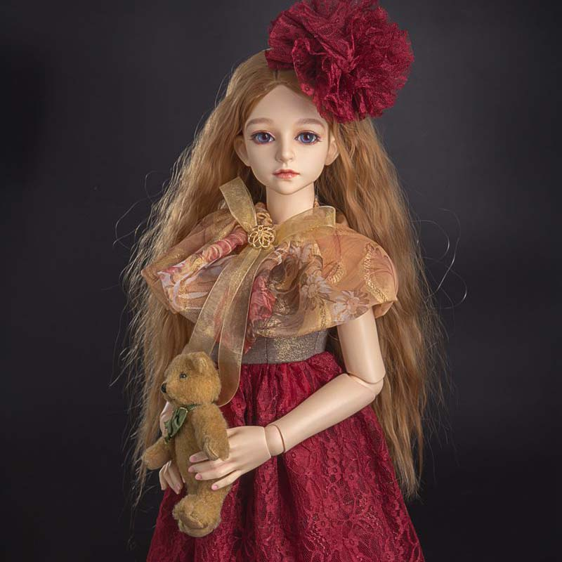 SD BJD Doll Accessories 1/4 BJD Dress Clothes For BJD Dolls 1/4 1 6 1 4 1 3 bjd sd dd doll accessories doll clothes red fleece for bjd sd doll