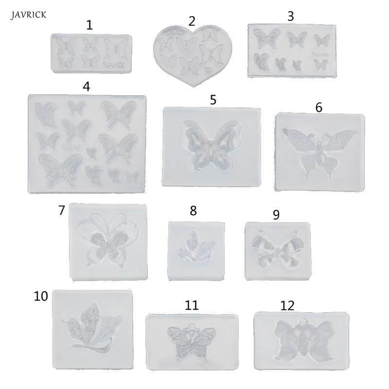 Cute Butterfly Silicone UV Resin Molds Earring Necklace Pendant Jewelry Tools DIY Making Finding Accessories Dropshipping