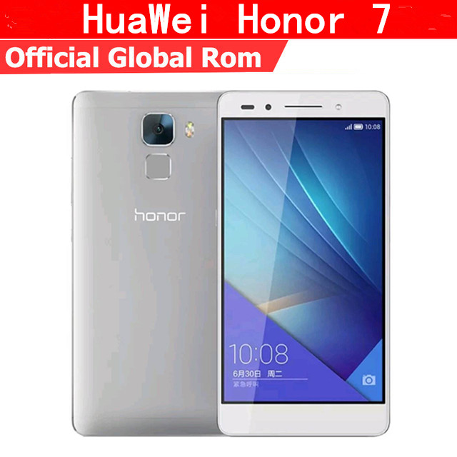 "Humoristisch Global Firmware Huawei Honor 7 4g Lte Smart Phone Android 5.0 5.2 ""fhd 1920x1080 3 Gb Ram 64 Gb Rom 20.0mp Nfc Vingerafdruk"