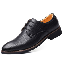 2019 Newly Men's Quality Patent Leather Shoes Zapatos de hombre Size 38-47 Black Leather Soft Man Dress Shoes