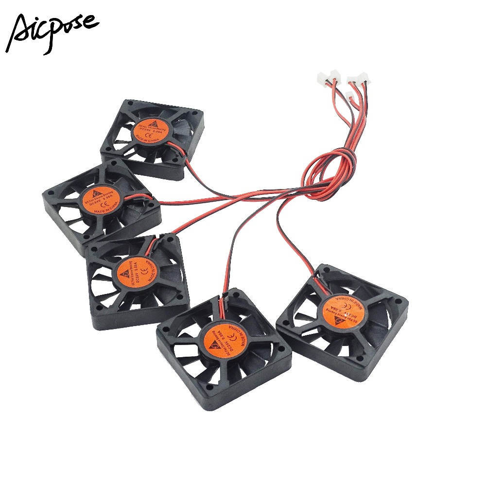 5Pcs/lots 5x5 Silent Fan 12v Or 24v With Cable 15cm For 5x5cm fans <font><b>Led</b></font> <font><b>PAR</b></font> Light Repair <font><b>Parts</b></font> image