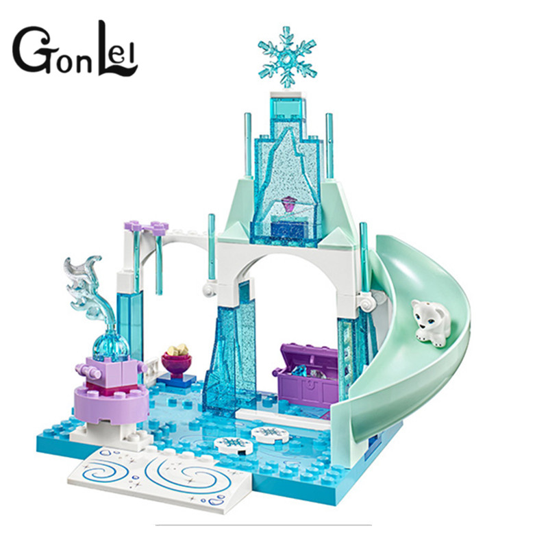 GonLeI 10665 Girl Friends Princess Snow Queen  Anna Elsa's Sparkling Ice Castle Anna Elsa Building Toys for Children Christmas ynynoo bale 10665 arendelle castle building blocks princess anna elsa buildable compatible with lepin friends